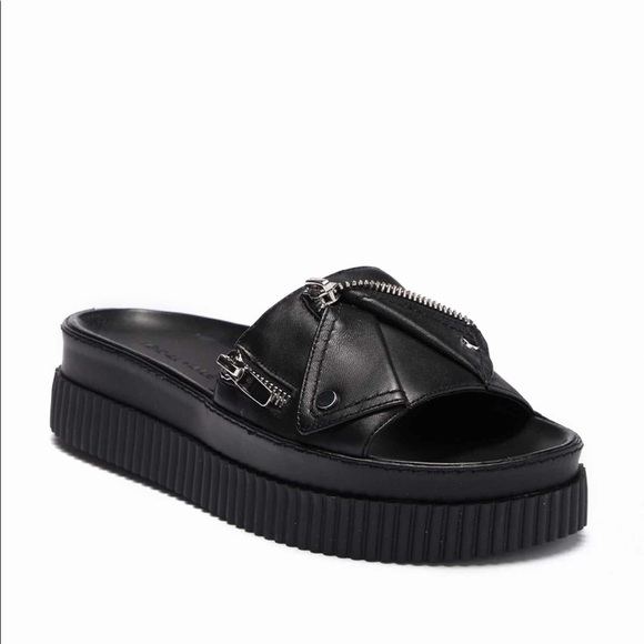 Kendall Kylie Leather Platform Sandals